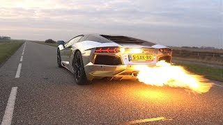 INSANE!! Lamborghini Aventador LP700 SPITTING HUGE FLAMES!