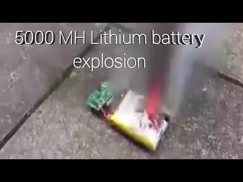 Experiment of lithium ion 🔋🔋  burning | 5000 mh battery explosion 💀☠️.
