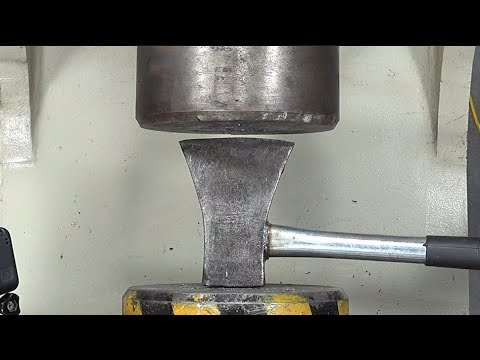 Hard Axe Challenges 100 Tons Of Hydraulic Pressure, Who Is The Strong