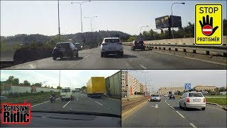 Driving in the opposite direction, Reversing, Overtaking from the right, Dashcam