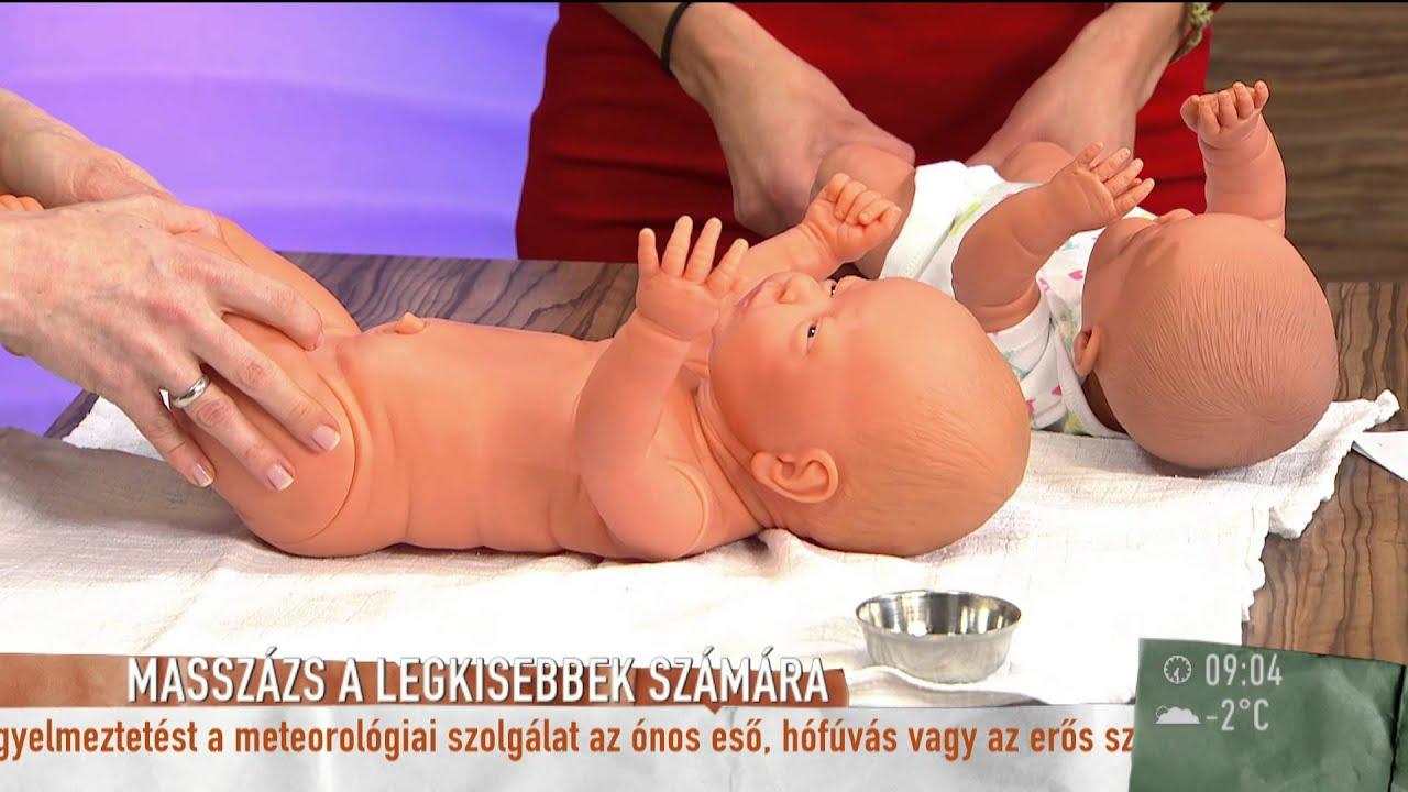 masszázs hipertónia csecsemőknél videó