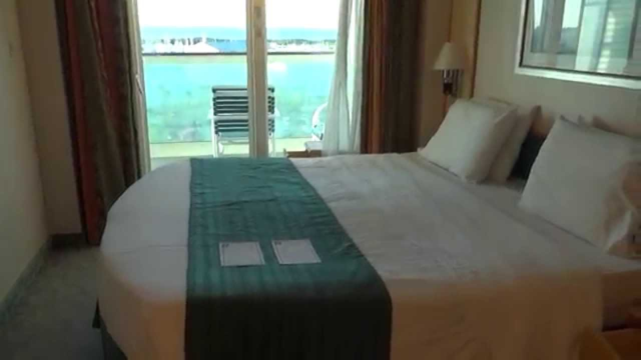 Balcony stateroom tour on royal caribbean freedom of the for Balcony on cruise ship