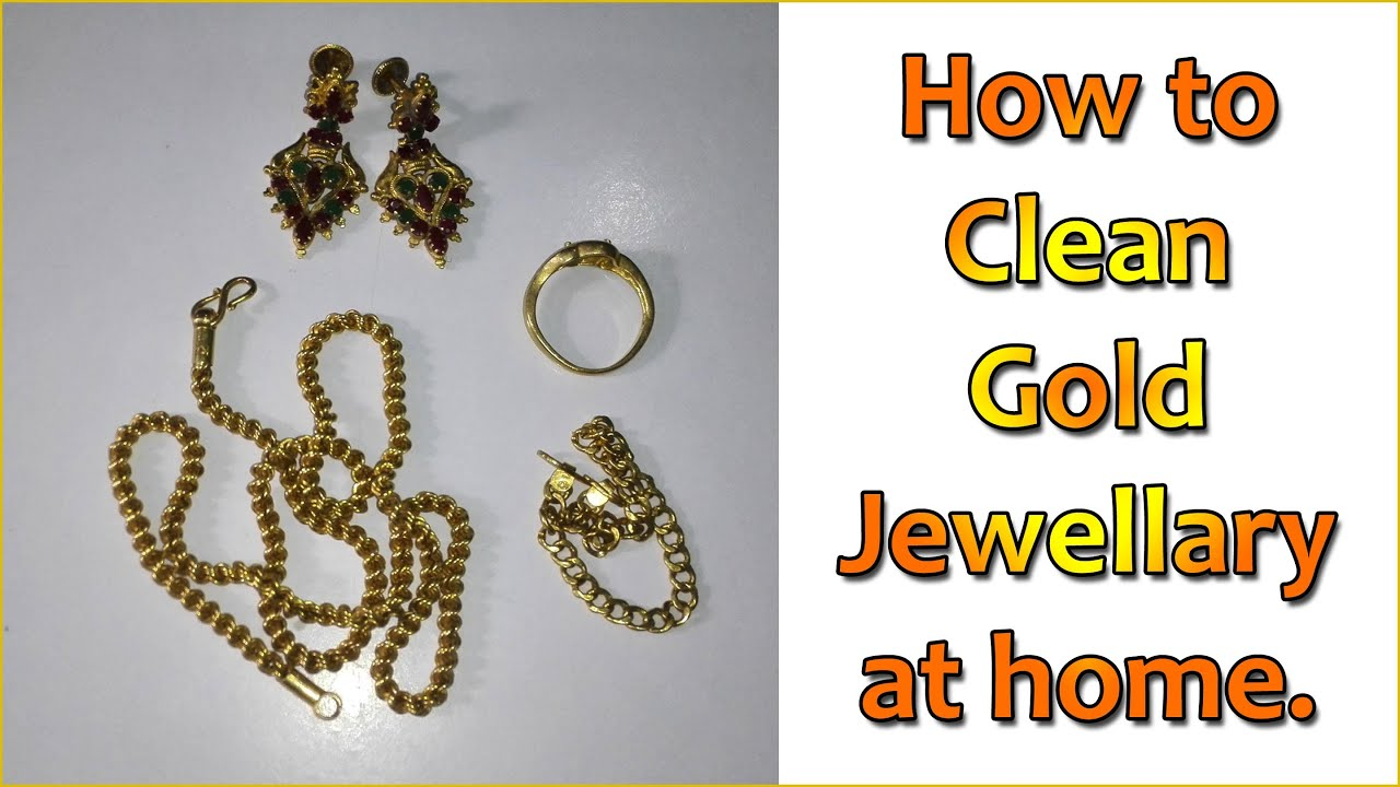 How to Clean Gold Jewellery at Home Simple Technique YouTube