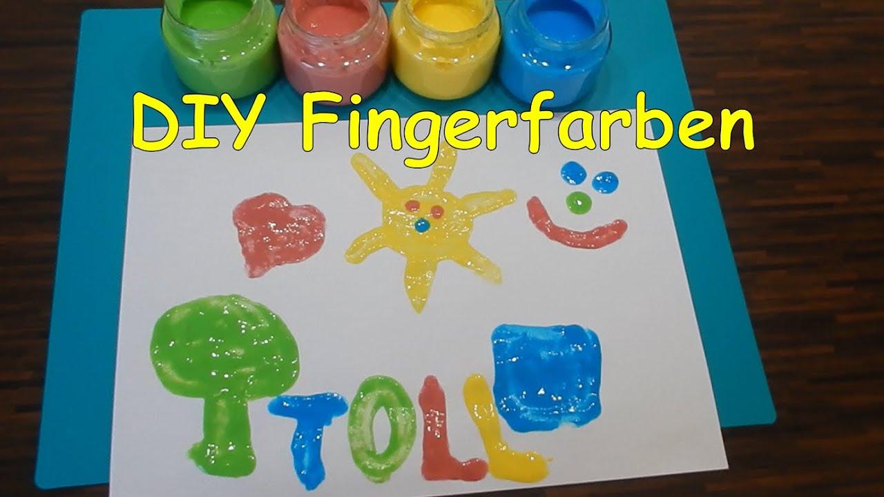 Fingerfarbe selber machen | Ungiftige Malfarbe für Kinder