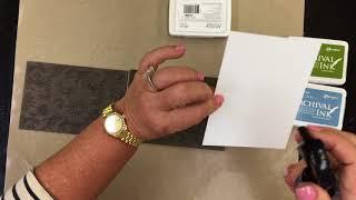 Wendy Vecchi Archival Inks Embossing Folder Technique