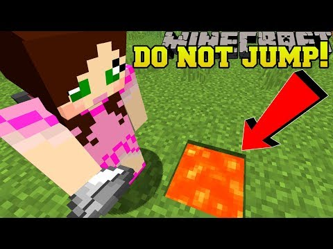 Minecraft: *NEVER* JUMP IN LAVA!!! - CENTER OF THE MOON - Custom Map thumbnail