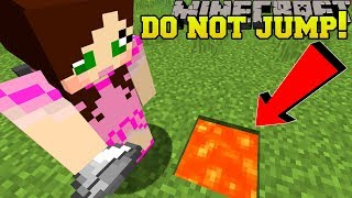 Minecraft: *NEVER* JUMP IN LAVA!!! - CENTER OF THE MOON - Custom Map