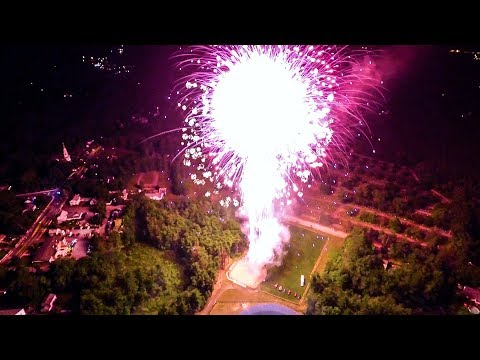 Wilmington, MA 4th of July Fireworks - Drone Footage
