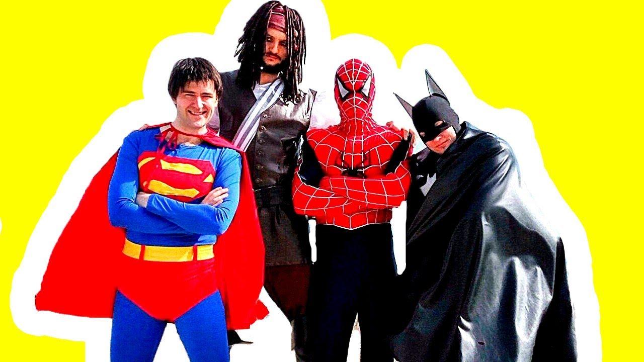 Человек Паук и СУПЕРГЕРОИ Бэтмен и Супермен #МСТИТЕЛИ и Человек-ПАУК! #Marvel  #ИгрыДляМальчиков