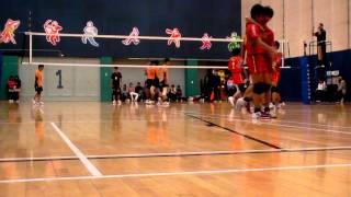 2009-10香港學界男子排球精英賽4強長天對華英第一局