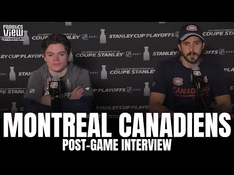 Phillip Danault & Cole Caufield React to Montreal Canadiens Game 1 Loss vs. Vegas Golden Knights