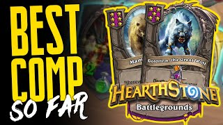 THE CRAZIEST COMP! This is BUSTED!!   Hearthstone Battlegrounds