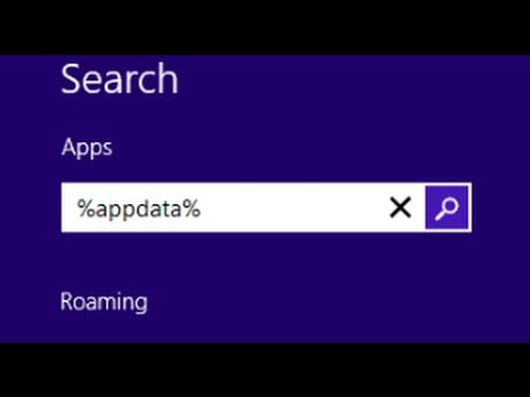 how to go to appdata on windows 8