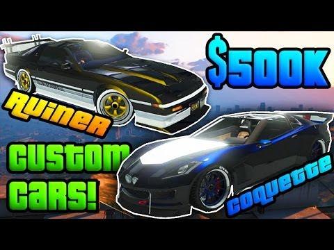 GTA Online: $500K Custom Car SPREE! Fully Upgraded Ruiner & Topless Coquette! (GTA V Online)