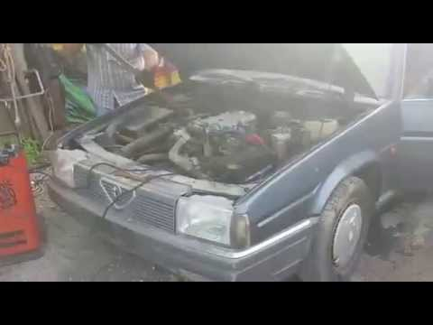 Alfa 90 2.4 Turbodiesel cold start after 11 years