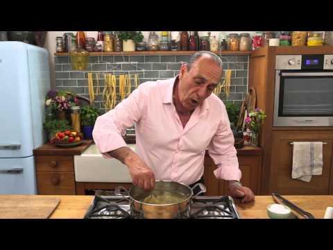 """Gennaro Contaldo demonstrates how to cook pasta """"al dente""""."""