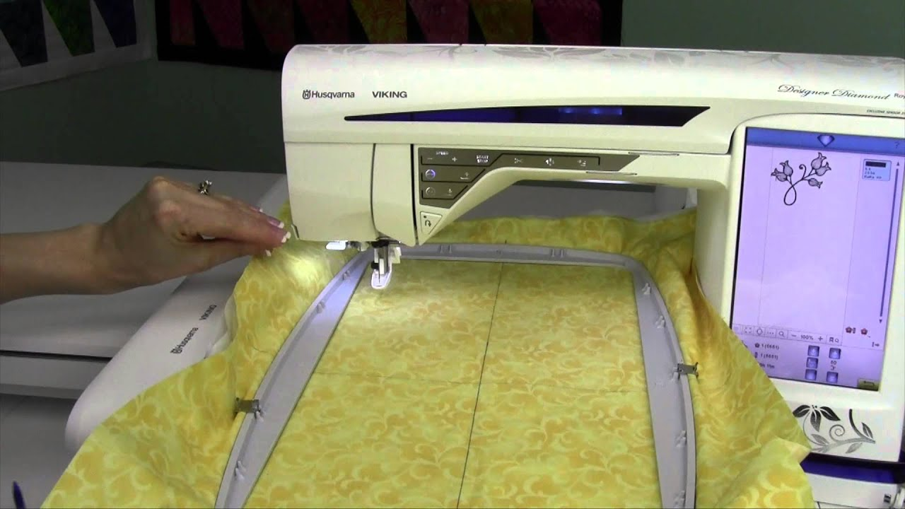 Husqvarna viking designer diamond how to embroider a