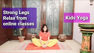Tired of study from home ? Do this | Titali Asan | Butterfly Pose | Kids Yoga