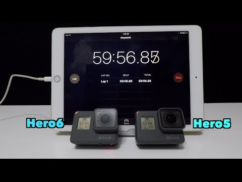 GoPro: Hero6 vs Hero5 Battery Life Comparison (4k 30fps W) - GoPro Tip #595 | MicBergsma