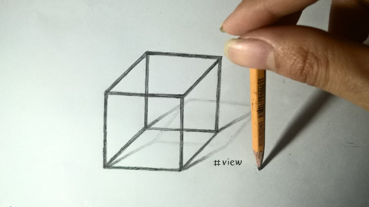 How to drawing 3D cube – Easy Trick Art [Tutorial drawing 3D]