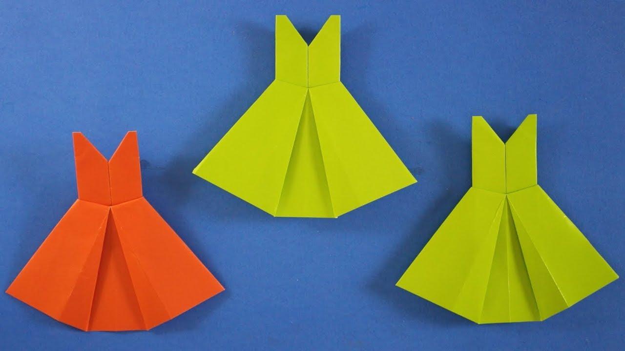 Cara Membuat Origami Baju Pengantin - Kerajinan Tangan Mudah #10