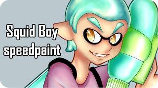 【 Speedpaint 】- Squid Boy