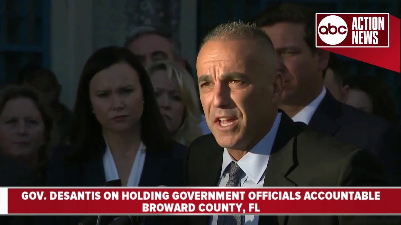 Governor DeSantis suspends Broward Co  Sheriff Scott Israel for response to  Parkland shooting
