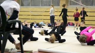 Художественная гимнастика. Тренировка 1 уровень. Упражнения для начинающих.