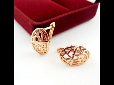 Серьги украшение медицинское золото WomenCity Earrings Jewelry
