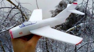 Как сделать самолет из пенопласта(Всем привет! В этом видео я покажу вам, как сделать модель самолёта из потолочной плитки (запускается с ката..., 2016-11-22T08:54:35.000Z)