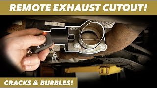 QTP Electric Exhaust Cutout // STRAIGHT PIPING MY BMW