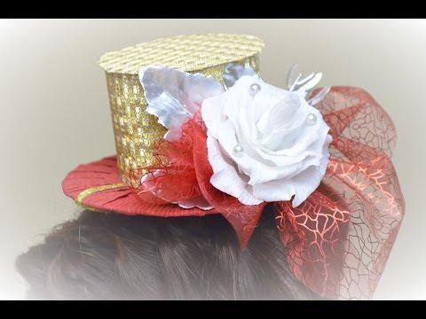 Шляпка своими руками Partyhütchen selbst gemacht Party Hut