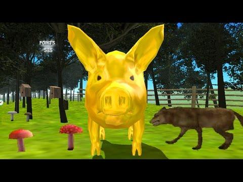 СИМУЛЯТОР СВИНЬИ 🐷🐽🐷 Свинья бегает, все ломает, играем со свиньёй Simulator Pigs