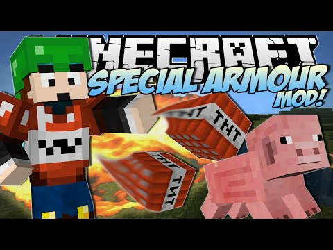 Minecraft | SPECIAL ARMOUR MOD! (Alvin's Temporary Armour Shop!) | Mod Showcase
