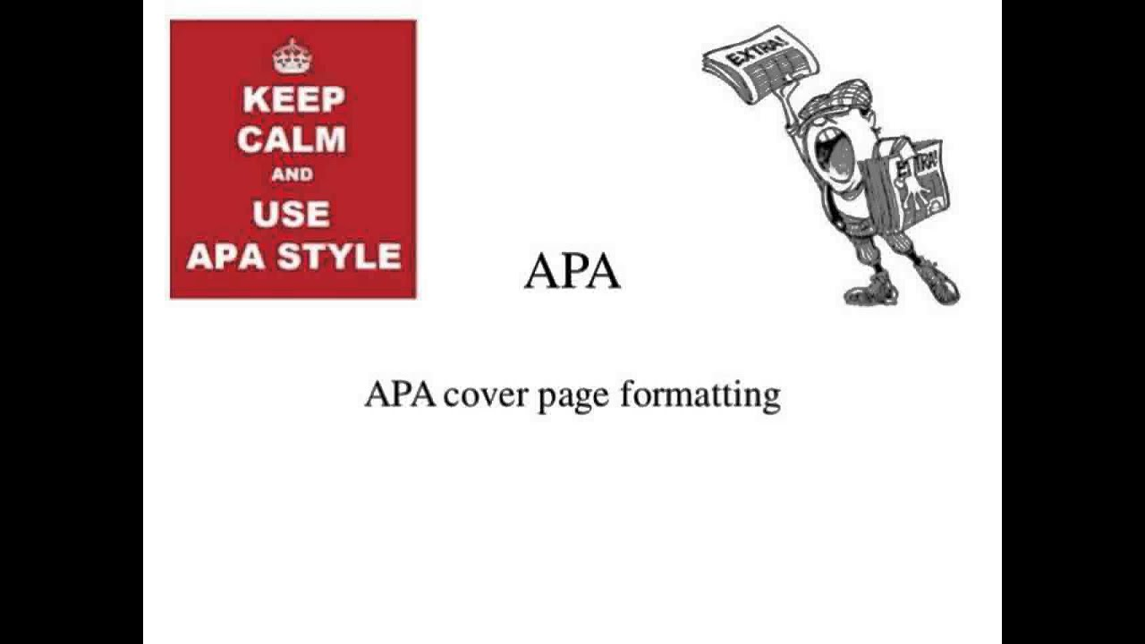 how to create an apa cover page