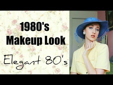 1980's Makeup Look   Elegant 80's style