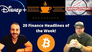 02-14-21 | Morning Coffee Break | 20 Finance Headlines | Disney +, Bitcoin, Unemployment #'s & More!