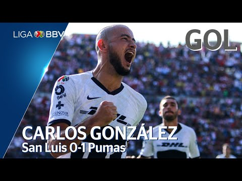 Gol de  C. Gonzalez | San Luis 0-1 Pumas | Liga BBVA MX | Apertura | Jornada 1
