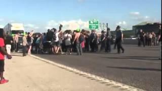 ferguson protester blocks traffic pays price