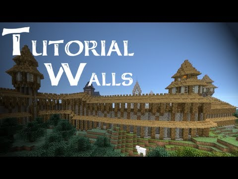 Minecraft Tutorial: How to build medieval city walls (Part 1/4)