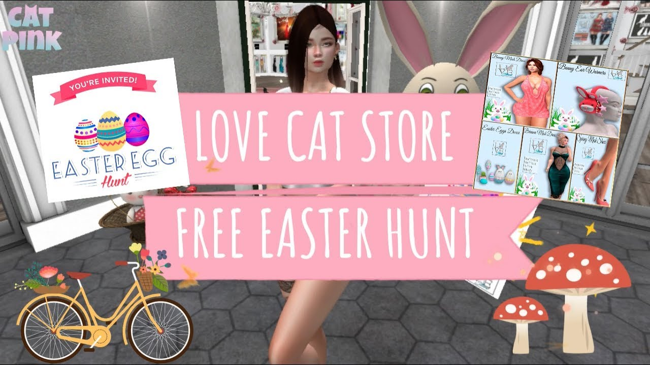 Second Life Store Free Easter Hunt Lovecat Store Second Life