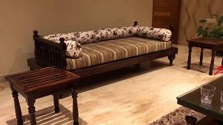 Indian Seating 7x3 feet ( LOTUS DIWAN )  - Rightwood furniture