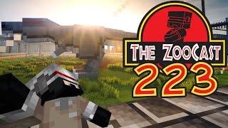 Minecraft Jurassic World (Jurassic Park) ZooCast - #223 Tyrannosaurus Exhibit Progress!