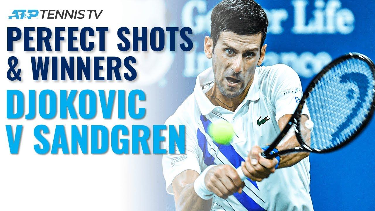 Novak Djokovic Perfect Tennis Vs Tennys Sandgren Cincinnati 2020 Youtube