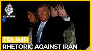 Trump steps up rhetoric against Iran, threatens Iraq sanctions