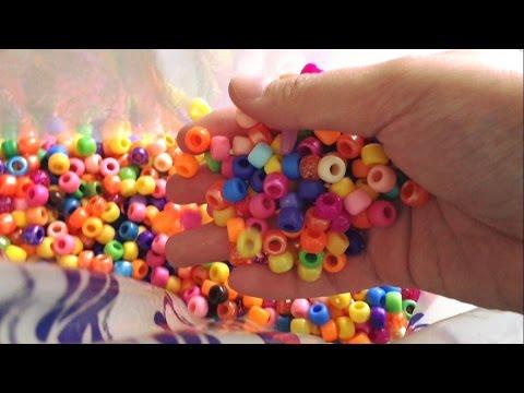 (ASMR) Plastic Pony Beads, Crinkling, Soft Spoken