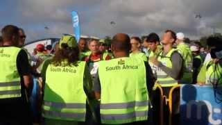 Manx Telecom Parish Walk video - South Africans sing