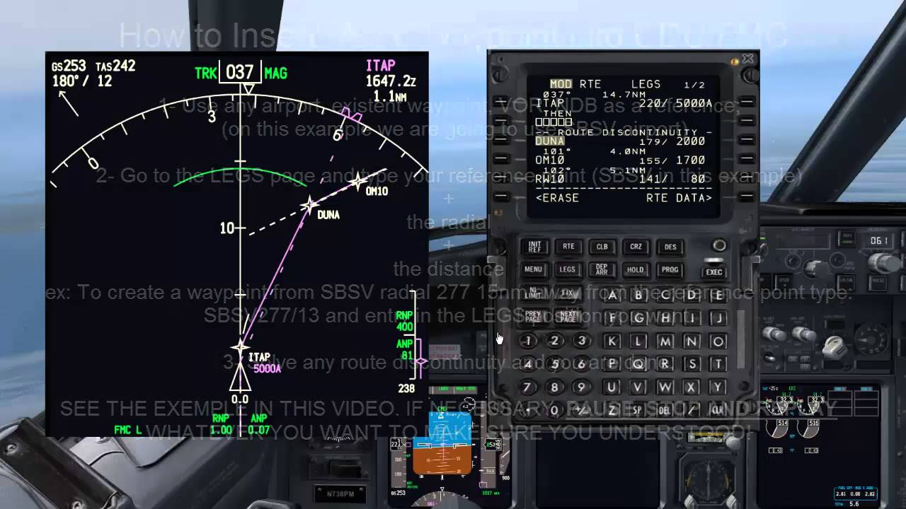 pmdg 737 800 cdu fmc lesson inserting any fix youtube rh youtube com 737 FMS 737 Overhead Panel