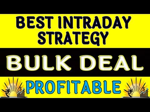 Best Intraday trading Strategy | A secret Trick of BULK DEAL || Market Sunrisers