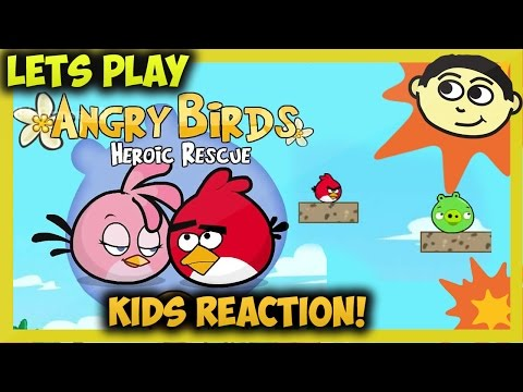 Playing Angry Birds Heroic Rescue Gameplay - сердиться птиц